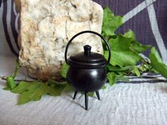 Black Wooden Witches Cauldron handcrafted in by PaganMagicalCrafts
