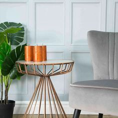 New for copper and ceramic occasional table , plush silver grey cocktail chair and a funky cheese plant from our Arboretum Cheese Plant, Interior Styling, Interior Design, Copper Table, Cocktail Chair, Wine Table, Wholesale Furniture, Faux Plants, New Product