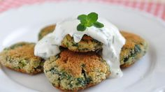 Vegetable rosti with garlic & chive cottage cheese