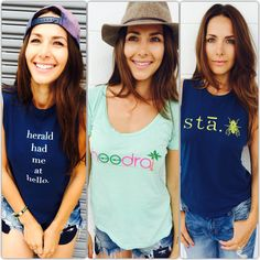 Those new summer tees are a must for you ladies!! Brand new from herald.hill!