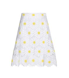 White and yellow daisy embroidered lace skirt -  DOLCE & GABBANA ----  € 1.250 /// mytheresa.com
