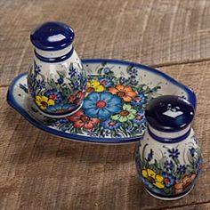 Polish Pottery Salt & Pepper Set
