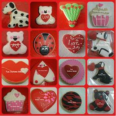 san valentine cookies