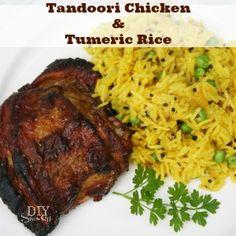 Tandoori chicken tumeric rice (yogurt can be interchanged with coconut milk)