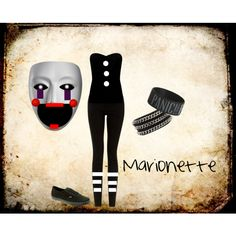"""Marionette FNAF2"" by accillia on Polyvore"