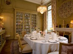 Can I have a room like this one day? The dining room at La Mirande in Avignon.