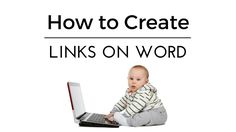 Knowing how to create links on word is a really handy little trick, making it so easy for readers to move around your document, create hyperlink word for both Start Writing, Blog Writing, Add Link, Table Of Contents, Create Words, Life Savers, You Youtube, Social Networks, Online Marketing