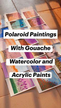 Gouache Painting, Diy Painting, Watercolor Paintings, Watercolour, Cute Canvas Paintings, Mini Canvas Art, Art Drawings Beautiful, Art Drawings Sketches Simple, Watercolor Art Lessons
