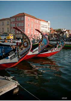 Moliceiros - typical boats from Aveiro #Portugal