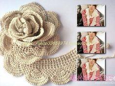 bufanda a crochet con flor - Buscar con Google