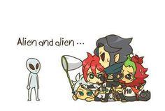 Inazuma eleven - funny- alien and alien