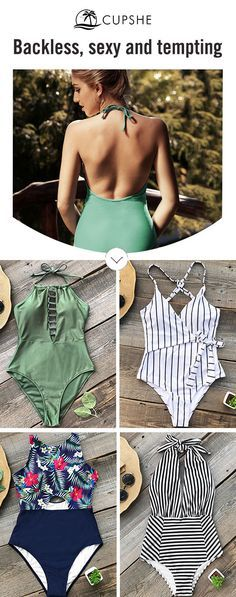 Backless Style Swimsuits ✿Summer Ready❀ Let this bikini set speaks for you! The way you dress tells who you are, you can be sexy, elegant and radiant with all these options. Choose this style and find inspiration here! It's not just another summer, it will be the greatest one.