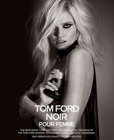 Lara Stone for Tom Ford Noir Fragrance by Inez van Lamsweerde and Vinoodh Matadin