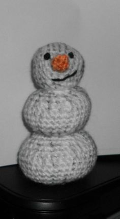 """Handmade Crocheted Amigurumi Peanuts Pigpen's Snowman Messy  5"""" Tall by The Knitting Gnome.. Cute by TheKnittingGnomeVT on Etsy"""