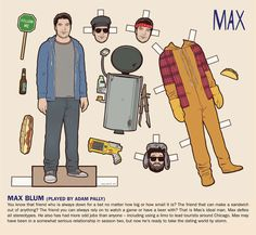 Paper doll Max from Happy Endings