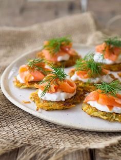 Smoked Trout & Mini Potato Rosti Canapes | www.bellyrumbles.com