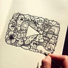 Healthy breakfast ideas for picky eaters food truck near me location Cute Doodle Art, Cool Doodles, Doodle Art Designs, Doodle Art Drawing, Kawaii Doodles, Art Drawings Sketches, Cute Drawings, Youtube Logo, Vexx Art