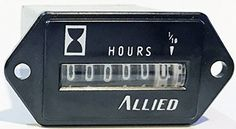 Allied 20046-11 Hours Run Meter, 6 digits, Screw, WireLead Connection, 120VAC #Allied