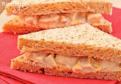 Spicy Tuna and Egg Sandwich Tuna And Egg, Slaw Dressing, Types Of Salad, Sandwich Ingredients, Filipino Recipes, Filipino Food, Light Snacks, Egg Sandwiches, The Dish