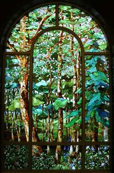 Stained glass forest art stained glass FunSubstance - Funny pics, memes and trending stories Stained Glass Designs, Stained Glass Panels, Stained Glass Projects, Leaded Glass, Stained Glass Art, Modern Stained Glass, Mosaic Art, Mosaic Glass, Mosaics