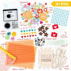 FreckledFawn.com OHDEERME JULY 2014 Exclusive Embellishment Paper Crafting Kit Club featured at scrapclubs.com