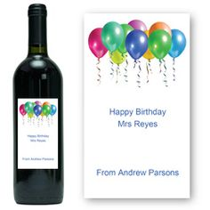 Personalised Birthday Wine