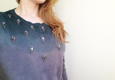 DIY ombre dyed sweater + applications