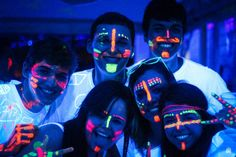 Discover recipes, home ideas, style inspiration and other ideas to try. Glow In Dark Party, Glow Party, Hobbies For Couples, Hobbies For Women, Neon Birthday, 16th Birthday, Birthday Ideas, Pintura Facial Neon, Glow Face Paint