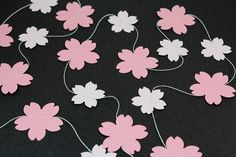 Cherry Blossom Paper Garland - Birthdays, Weddings, Baby Showers, Party Decorations on Etsy, $5.00