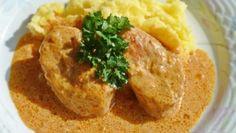 Krtkův plech – hrníčkový recept – RECETIMA Croatian Recipes, Hummus, Mashed Potatoes, Pork, Food And Drink, Menu, Ethnic Recipes, Steak, Dinners