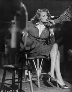 Rita Hayworth, 1945 on the set of Gilda