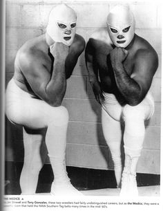 Jim Strevel and Tony Gonzales as the Medics, c 1960s. Photo: uncredited.