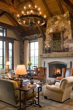 55 Awe Inspiring Rustic Living Room Design Ideas | Pinterest | Rustic  Fireplaces, Living Rooms And Decorating