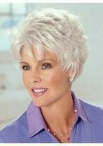"""""""Resultado de imagem para pixie haircuts for women over 60 fine hair"""", """"Browse our full range of Best Old Lady Grey Hair Wig and accessories in our gr Short Hair Over 60, Short Hair Dos, Short Grey Hair, Very Short Hair, Short Hair With Layers, Short Hair Styles, Short Wigs, Short Shag, Long Hair"""