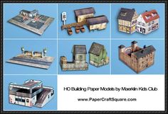 Building Paper Models For Diorama Free Templates Download