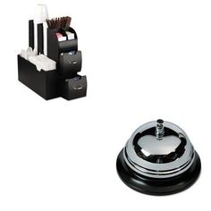 KITAVTCB10000EMSCAD01BLK  Value Kit  Brushed Nickel Call Bell with Black Base 3 38quot Diameter AVTCB10000 and Ems Mind Reader Llc Coffee Organizer EMSCAD01BLK *** Continue to the product at the image link.