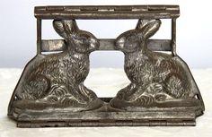 Vintage / Antique Anton Reiche Bunny Rabbit Pair Hinged Chocolate Mold