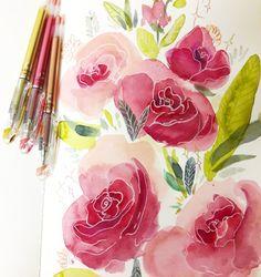 watercolor mixedmedia aquarell flowers Art Flowers, Flower Art, Watercolor, Watercolors, Flowers, Pen And Wash, Art Floral, Watercolor Painting, Watercolour