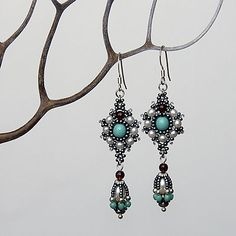 Queen Jewelry Chest hanbeaded Victorian Earrings by BeadCatcher, $52.00