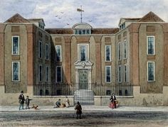An Ancient Mansion, called Pitchett Hall, South Side of Union St., Southward, 1828 (w/c on paper) Wall Art & Canvas Prints by Thomas Hosmer Shepherd