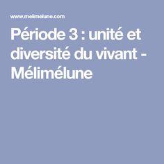 Période 3 : unité et diversité du vivant - Mélimélune