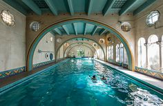 Julia Morgan designed the pool at the Berkeley City Club, now a Historic Hotel of America.