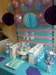 Blue & Purple Dessert Table