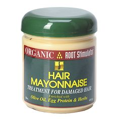 Organic Root Stimulator Hair Mayonnaise is a restoration and renewal treatment for dry, damaged hair.