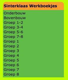 Sinterklaas Werkboekjes voor ALLE Groepen! http://www.minipret.nl/werkboekjes.html