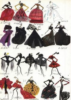 Christian Lacroix Sketches ~ETS #fashiondesign #fashionillustrations #lacroix #genius