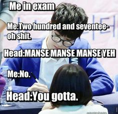 I actually experience this during our quiz. hahahaha the feels eyy!! ♡ #seventeen #mansae #kpop