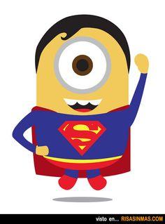 Minions como superhéroes: Superman.