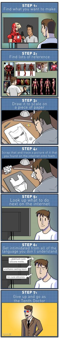 Dorkly Comic: An Honest Guide to Cosplay in 7 Steps
