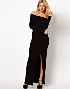 Love Maxi Dress Off Shoulder With Thigh Split